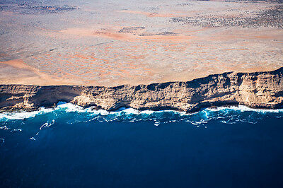 Large Australian Landscape Canvas Prints - Aerial of Shark Bay WA
