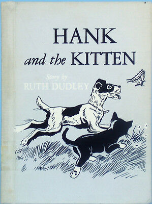 RARE Louis Darling Illust Book Wire-Haired FOX TERRIER Dog HANK & the KITTEN Vtg