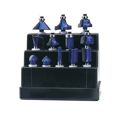"12PC 1/4"" ROUTER BIT SET Draper Tools"
