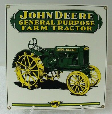 1995 John Deere TRACTOR Porcelain Sign Ande Rooney 10X10 GREAT CONDITION
