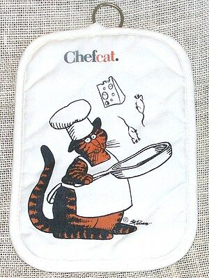 B. Kliban Chef Cat Pot Holder Pad  Collectable