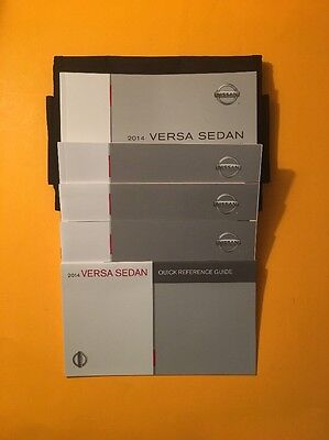 2014 Nissan Versa Sedan Owner's Manual Set