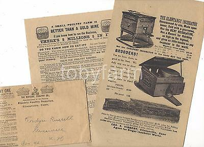 1902 Adv Cover W/circulars Clintonville Ct Electric Poultry Supplies Incubators