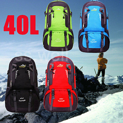 40L Waterproof Backpack Outdoor Luggage Rucksack Bag For Hiking Camping Travel