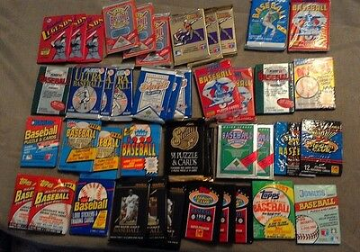 30 to 20 year old Baseball cards 160 each still in packs Including 14 star cards