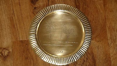 Vintage Brass Metal Wall Plate Hanging Arabic Islamic Middle East Hanging Decor