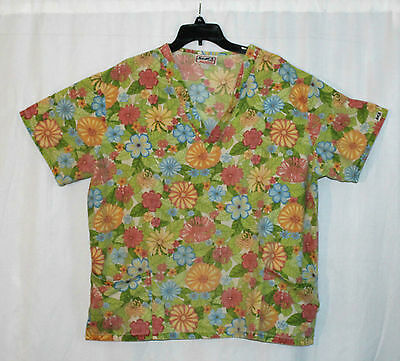 Women's Scrub Top by Stars Of Best Medical 2XL Floral