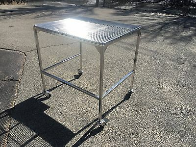 """30"""" X 36"""" electropolished all stainless steel clean room lab table CAN SHIP"""