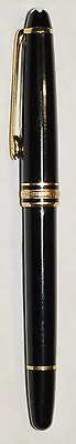Montblanc Melisterstuck Black And Gold Germany Fountain Ink Pen