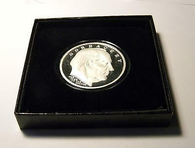 First  Russian Soviet President Gorbachov Commemorative Coin Beautiful