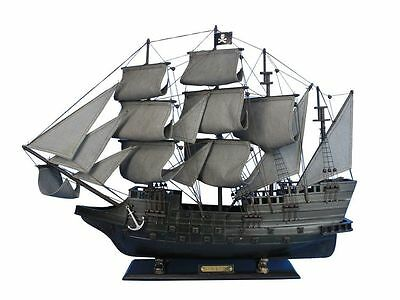 "Flying Dutchman Pirate Tall Ship 32"" Built Wooden Model Sailboat Assembled"