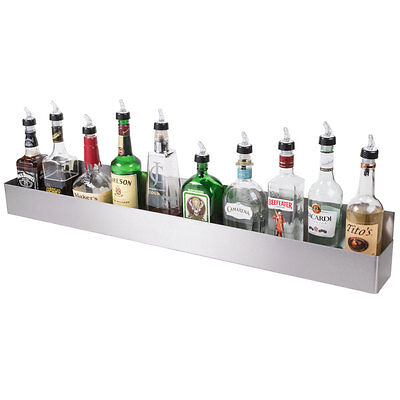 "42"" Stainless Steel Single Tier Commercial Bar Speed Rail Liquor Display Rack"
