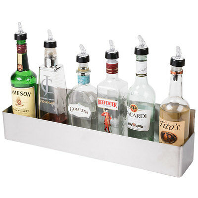 "22"" Stainless Steel Single Tier Commercial Bar Speed Rail Liquor Display Rack"