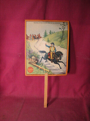 Antique Colorful Putnam Fadeless Dyes Advertising Hand Fan