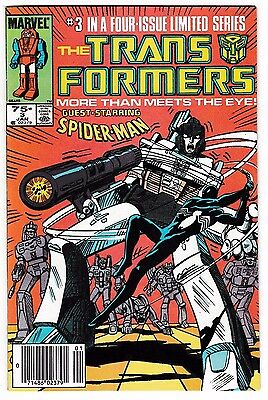 TRANSFORMERS #3 (FN/VF) Spider-Man Cover Story Appearance! Megatron! 1985 LQQK