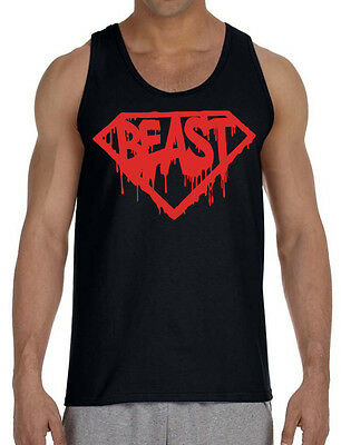 68f167dd7a997 New Super Beast Black Tank Top Muscle bodybuilding shirt workout fitness gym