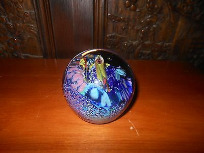 Peter Viesnik Art Glass Sea Garden Paperweight