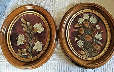 Antique Victorian 19th Century Chenille Trapunto ?? Floral 3D Embroidery