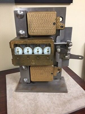 (1) 4 movement Mosler time lock - (2) Yale bank combination locks yoked display
