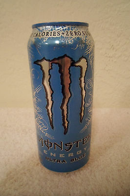 Monster Energy Ultra Blue Collectible 16oz. Drink Can New Designer Advertising!