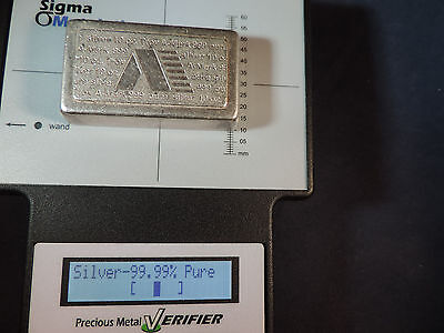 A-Mark Usvi Vintage 10 Oz .999 Fine Silver Bar  Free Shipping And Insurance
