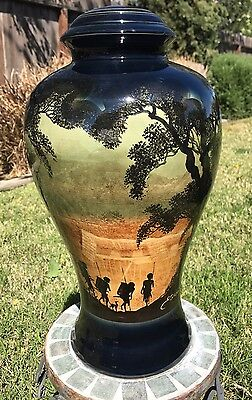 Sarawak Land Of Hornbill Hand Painted Pottery Lamp Base