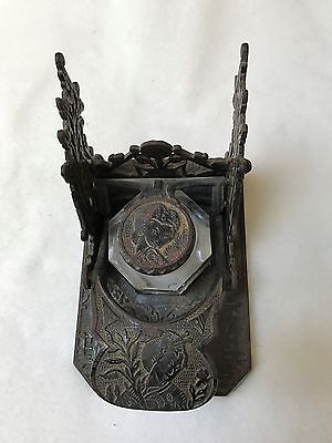 Unique Antique Mechanical Inkwell
