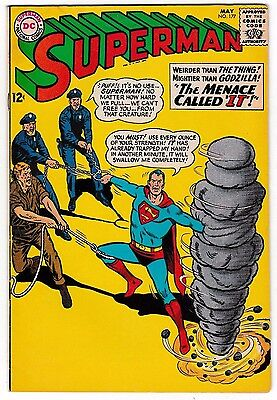 SUPERMAN #177 (FN-) Clark Kent's Kryptonese Curse! May,1965 Silver-Age DC