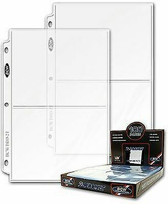 BCW 25ct Photo Archival Storage Binder Pages 2-Pocket 5x7-Inch