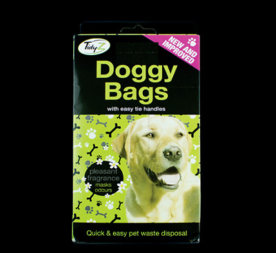 225 X Scented Doggy Bags Dogs Dog Puppy Poo Waste Poop Disposal Easy Tie Handle