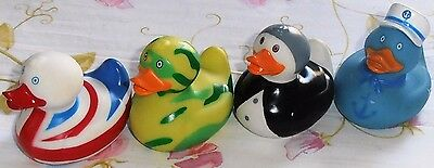 Set of 4 ~ Colourful PVC Bath Ducks ~ For Baby age 0+ ~ Safe & Fun ~ Brand New