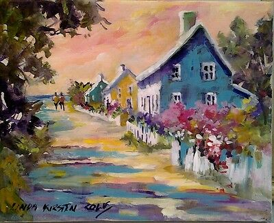 """FOR LOVE OF NANTUCKET"",  8x10 on canvas, FREE SHIPPING"