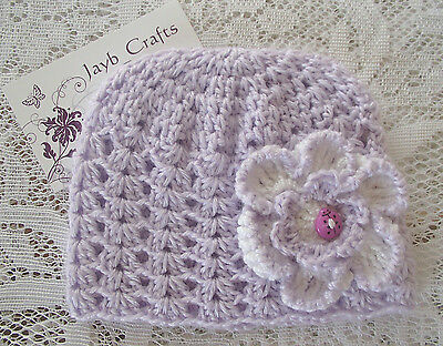 Handmade Crochet Baby Hat  in Patons baby  4 ply F#17