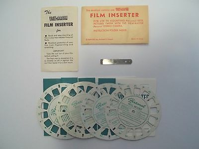 View-Master Film Inserter & Blank Personal Reels for mounting Stereo Camera