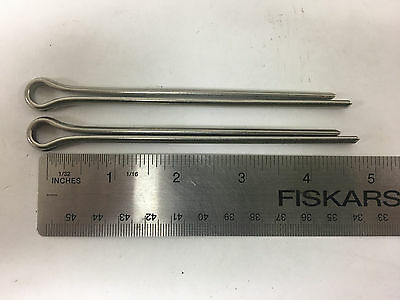 """(Pack Of 2) Stainless Steel Cotter Pin 4""""  3/16"""" Diameter"""