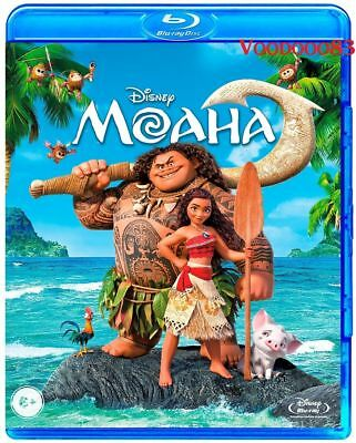 *NEW* Moana (Blu-ray, 2017) English, Russian, Kazakh, Arabic