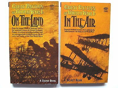 Great Battles of World War I: In the Air  +  On the Land   1st print.: 1966  2pb