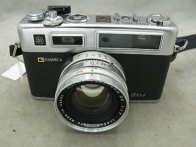 Yashica Electro 35 G GSN Rangefinder with 45mm f1.7 lens and Case  Works ID 8728