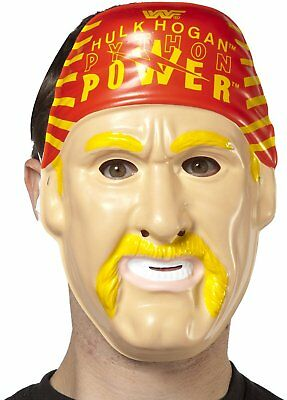 Hulk Hogan PVC Mask WWF WWE Costume Hulkamania 90s Face Bandana Python Power