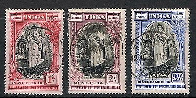 Tonga 1938 Queen Salote - Inscribed 1918 - 38