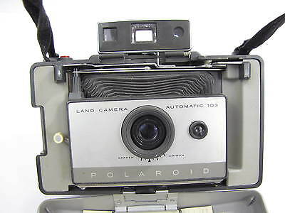 Polaroid 103 Land Camera Automatic With Shoulder Strap Vintage