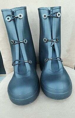 New KCA Military Rubber Boots, Size 7, Black, Shoe Protector, Waterproof