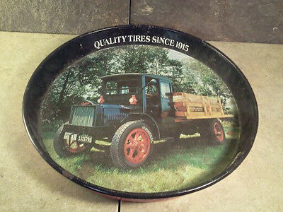 General Tire Advertisement - Old Serving Tray - 1918 Packard 4 Cyl. Delivery!