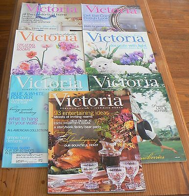 VICTORIA MAGAZINE 7 Issues 2002 - January, March, April, May, June July November