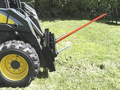 "Skid Steer Hay Bale Handling Attachment 39"" Bale Spear                  CAT-M"