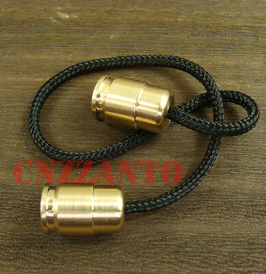 "Solid Brass Begleri Bullet shaped toy ""worry beads"" lanyard bead Zipper pull EDC"
