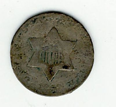 1852 Three Cent 3 Cent Silver - See Photos For Condition - Free Shipping