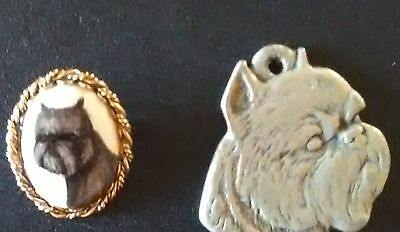 *ice* Lot Of Two Brussels Griffon Items