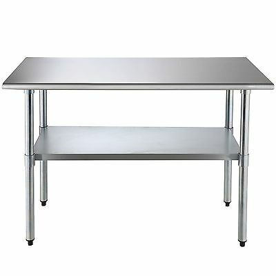 """24"""" x 48"""" Prep Table Commercial Stainless Steel Work Food Kitchen Restaurant MX"""