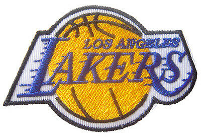 New NBA Los Angeles LA Lakers logo embroidered iron on patch. (IB30)